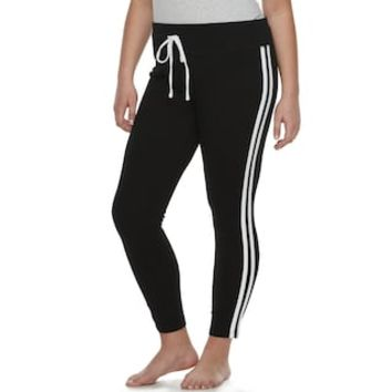 Plus Size SO® Side Stripe Yoga Leggings | null