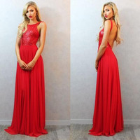 A-Line Red Sequins Prom Dresses,Prom Dress