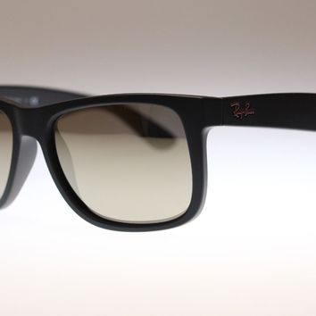 Ray Ban Justin Men's Sunglasses RB4165 622/5A Black/Gold Lens Square Authentic