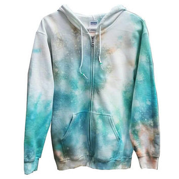 SALE Mermaid Aqua Sweatshirt Tie Dye Hoodie Womens Mens Girls Boys Gift For Him Gift For Her Tumblr Gym Clothes Fall Hooded Sweater Fleece