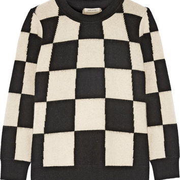 Marc Jacobs - Checked cashmere sweater