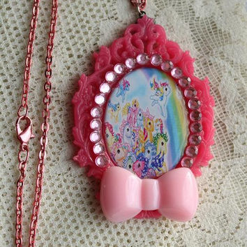 My Little Pony Necklace - MLP - Friendship is magic - Rainbow Necklace