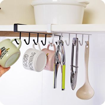 New Korean iron cabinet hanging hook Cupboard Door shelf wardrobe finishing rack organizer kitchen accessories