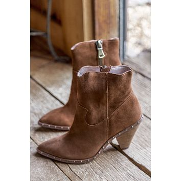 Ramble Split Suede Boots, Rusty Brown | Chinese Laundry