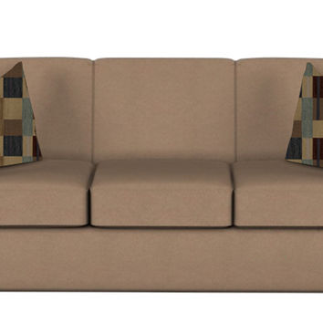Geneva Queen Sleeper Sofa by Savvy in Willow Bronze