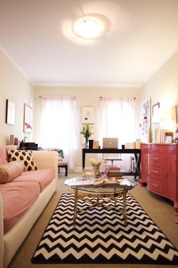 Girly Living Room Office From