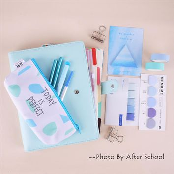 A5 Colored Spiral Notebook With Filler Papers Pens Tapes Stickers Overvalued Stationery Set Package School Student DIY Planner