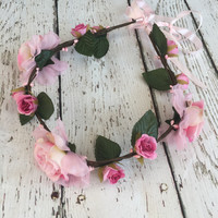 Shades of Pink - Whimsy Flower Crown