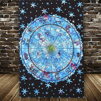 Tapestry Wall Hanging 12 for Constellation Series Moroccan Indian Printed Decorative Wall Elephant Tapestries 135*195cm