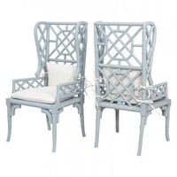 Candelabra Home Bamboo Wing Back Chair (Set of 2) | Furniture | Candelabra Home | Brands | Candelabra, Inc.