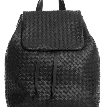 Corso-Hand Woven Large Leather Backpack