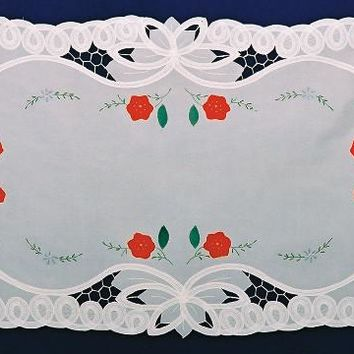 German Edelweiss Table Runner Lace Applique
