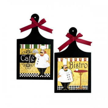 French Chef Wall Plaque (pack of 4)