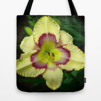 Jamaican Love Daylily Tote Bag by RVJ Designs