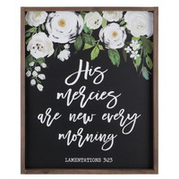 Lamentations 3:23 Floral Wood Wall Decor | Hobby Lobby | 1657089