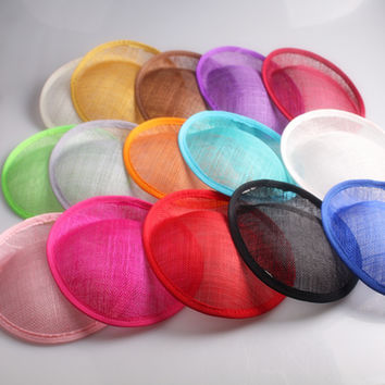 16 color for select 20CM SINAMAY fascinator base making fascinators party hats millinery cocktail headware wedding hairstyle