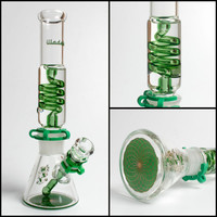Illadelph Mini Freezable Coil Tube 7MM beaker bongs glass water pipes concentrate pipe bubbler hookahs smoking head