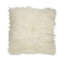 Mongolian Shag White Pillow