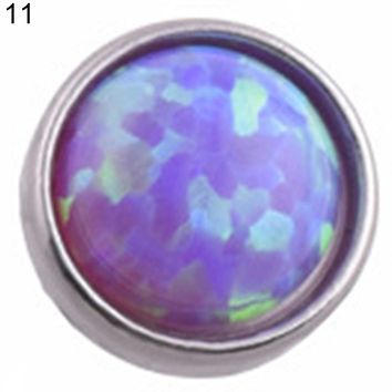 Opal Stone Skin Driver Dermal Anchor Stainless Steel Body Piercing Jewelry