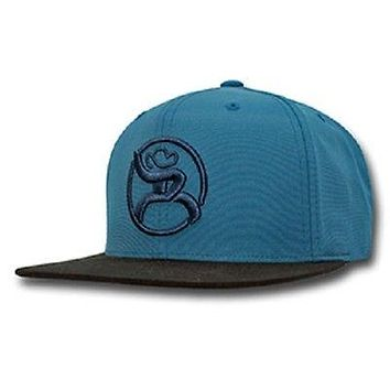 HOOey Roughy Rodeo Hat Teal snapback with black fleece Snapback OSFA