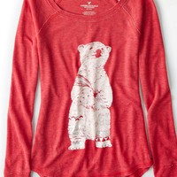 AEO 's Thermal Graphic T-shirt (Twilight Red)