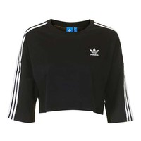 Three Stripe Crop Tee by Adidas Originals - New In This Week - New In