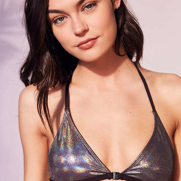 Out From Under Silver Foil Triangle Racerback Bikini Top - Urban Outfitters