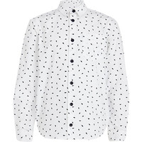 River Island Boys white lightening bolt print shirt
