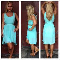 Aqua Angie Dress