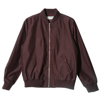 Plain Zip-Up Blouson (Burgundy) | STYLENANDA