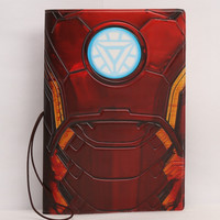 Ironman Iron man Avengers Tony Stark arc reactor id identity passport holder case travel visa