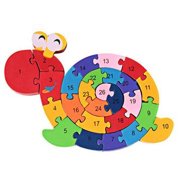 DCCKL72 New Educational Toys Brain Game Kids Winding Snail Wooden Toys Wood Kids 3d Puzzle Wood Brinquedo Madeira Kids Jjigsaw Puzzles