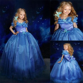 Fashion Girls Cinderella Princess Dress Cosplay Party Costume