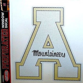 "Appalachian State Mountaineers SD 8"" Perforated Window Film Decal University of"
