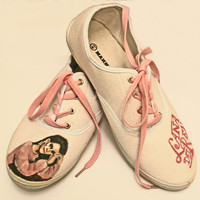 Lana Del Rey women handpainted shoes one of a kind sneakers pink EU size 41