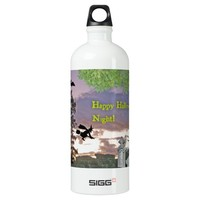 Ghost, Flying Witch & Owl For Halloween Night SIGG Traveler 1.0L Water Bottle