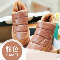 Women winter snow boots, warm flat and waterproof boots for winter