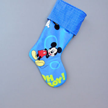 Mickey Mouse Christmas Stocking, Mickey Mouse Stocking, Christmas Stocking, Children's Stocking