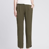 Banana Republic Womens Heritage Green Drapey Pant