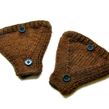 Ear Warmers for Bicycle Helmet Hand Knit in by GretaHoneycutt