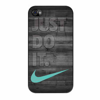 Nike Mint Just Do It Wooden Gray iPhone 4 Case
