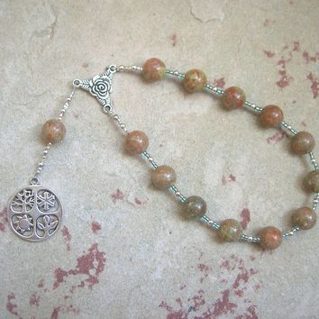 Demeter Pocket Prayer Beads in Unakite: Greek Goddess of Grain, the Harvest, the Seasons