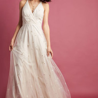 Jenny Yoo Display of Radiance Maxi Dress in Tea