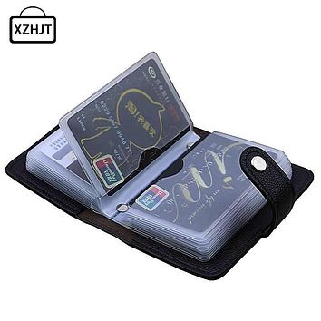 Leather Function 24 Bits Card Case Business Holder