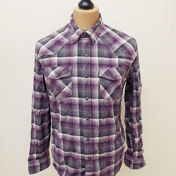 Retro Converse Designer Lumberjack Plaid Flannel Check Shirt M