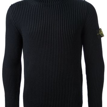 Stone Island ribbed turtleneck sweater
