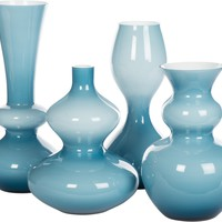 Blue Dipped Vases - Set of 4