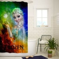 Disney Frozen Elsa Nebula Quality Bathroom Shower Curtain 60x72 Inch