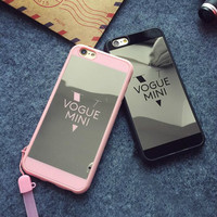 Simple fashion black and pink and white couple mobile phone case for iphone 5 5s SE 6 6s 6plus 6s plus + Nice gift box!