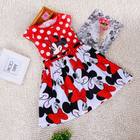Girls Minnie Mouse Spring/Summer Dress. 3 Styles Available